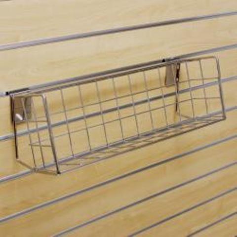 Gitterkorb für Lamellenwand
