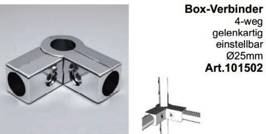 Box-Verbinder 4-weg ø25mm