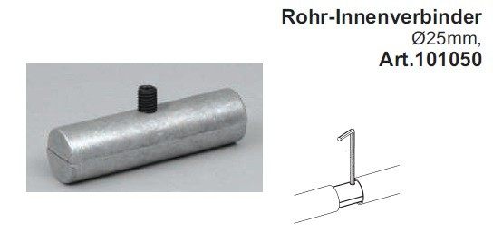 Rohrinnenverbinder für Rohre ø25mm