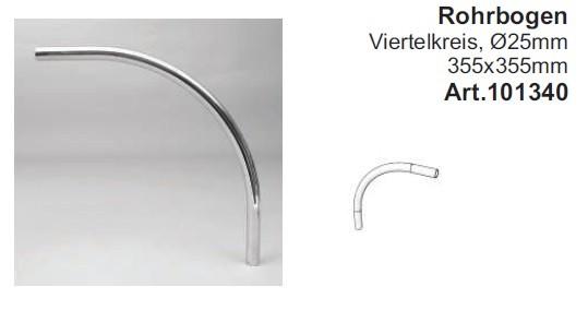 Rohrbogen für Rohr ø25mm