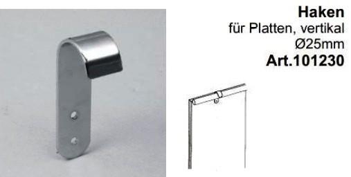 Rückwandhalter für Rohr ø25mm