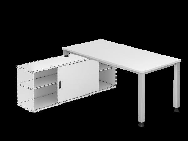 Schreibtisch VSQE für Sideboard-Weiß