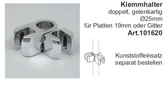 Klemmhalter für Rohr ø25mm,  Gelenk