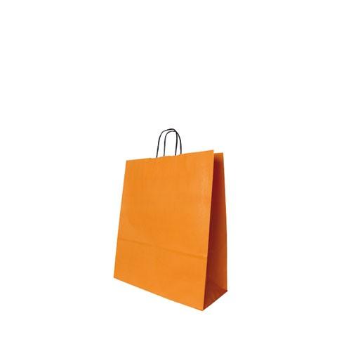 Papiertragetasche orange