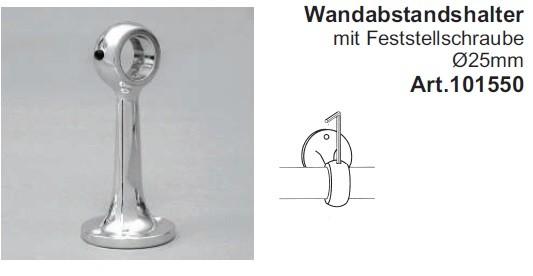 Wandabstandshalter für Rohre ø25mm