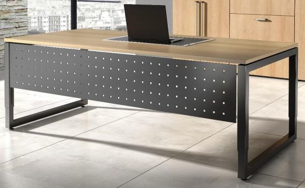 Schreibtisch VRS mit Sichtblende/Aufpreis