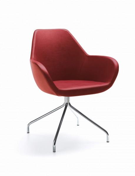 FAN 10H-Sessel, Stoffbezug, Gestell fest