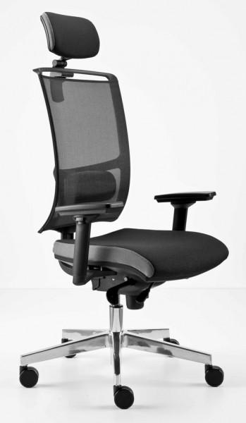 Bürodrehstuhl mit Netzrücken und Lendenwirbelstütze