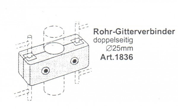Rohr - Gitterverbinder