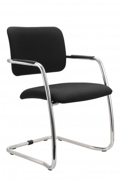 Freischwinger Stuhl mit Armlehne