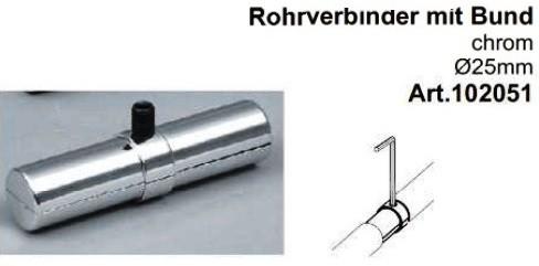 Rohrverbinder für Rohre ø25mm, mit Bund
